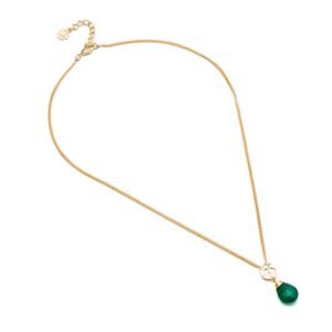 Classic Athena Necklace: Green Onyx