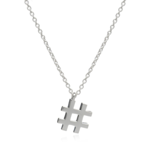 Hashtag Necklace: Sterling Silver