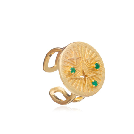 Cygnus Gold Astral Coin Ring