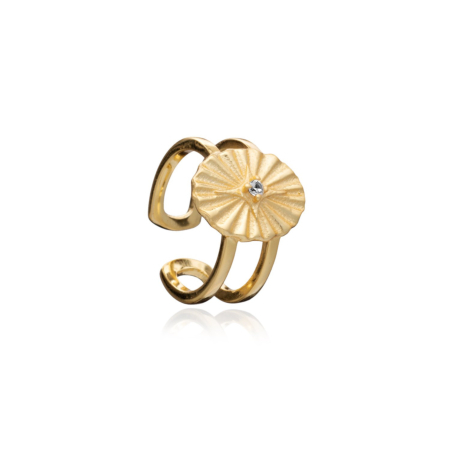 Crucis Gold Astral Oval Ring