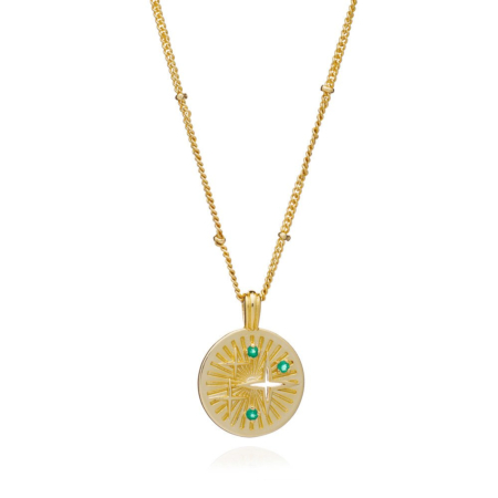 Cygnus Star Gold Coin Necklace