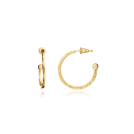 Lydia Small Hoops: Gold