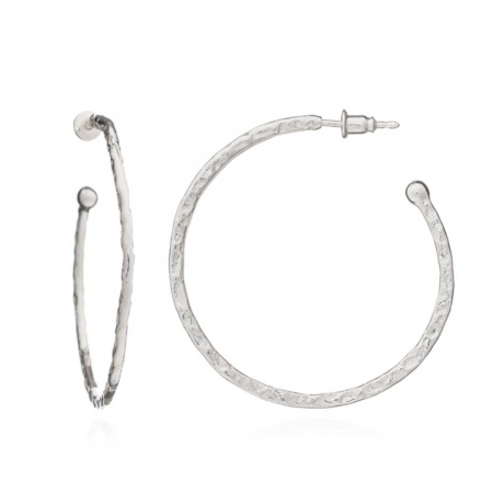 Lydia Large Hoops: Silver