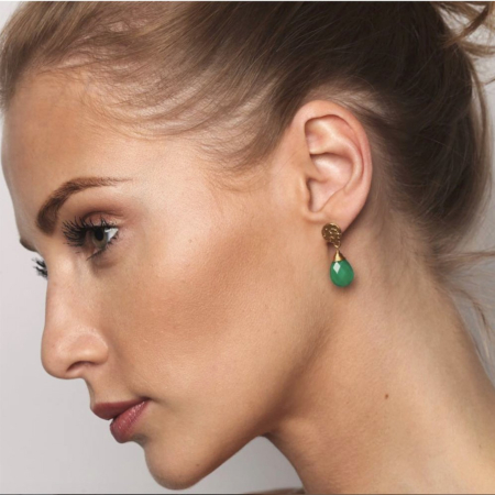 Athena Large Drop Earrings: Gold