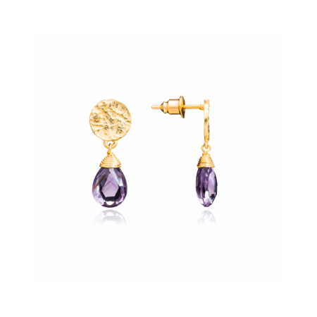 Classic Athena Drop Earrings: Gold