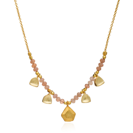 Themis Nugget and Gemstone Necklace