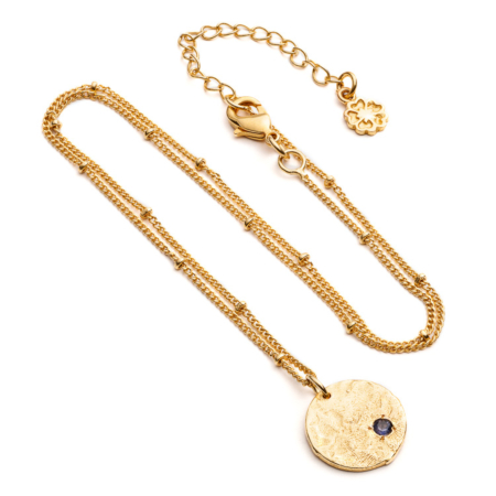 Layla Hidden Coin Necklace: Gold