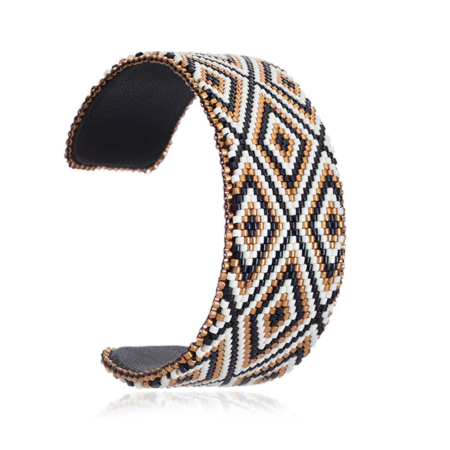 Azka Wide Leather Bangle