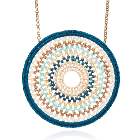 Nova Crochet Mandala Necklace