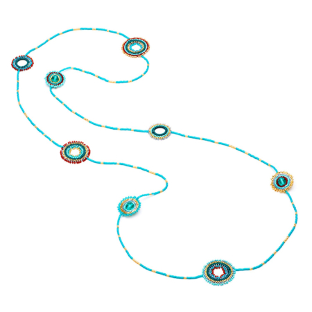 Quito Beaded Hoop Artisan Necklace