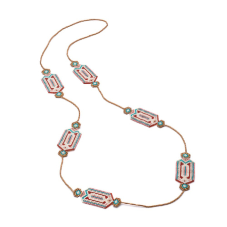 Itza Long Beaded Necklace