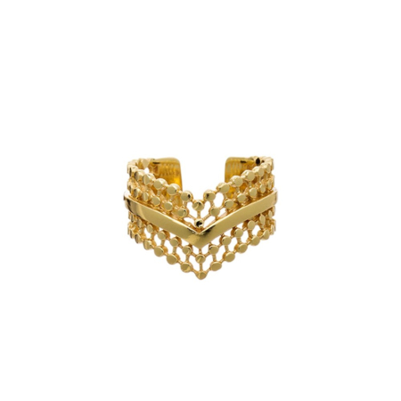 Etrusca Wide Wave Ring
