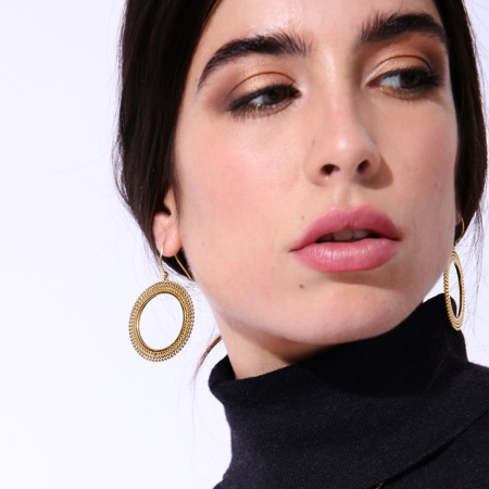 Etrusca Large Round Hoops