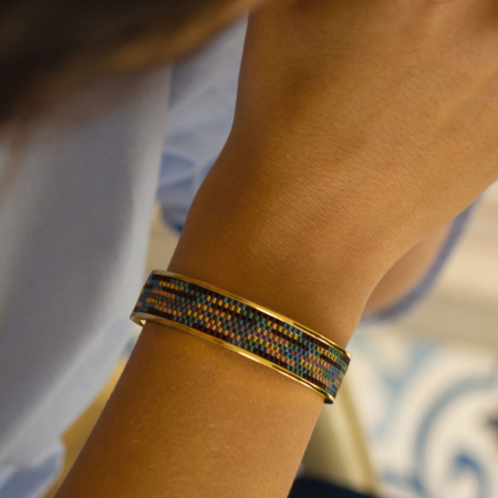 Totem Wide Bangle: Midnight