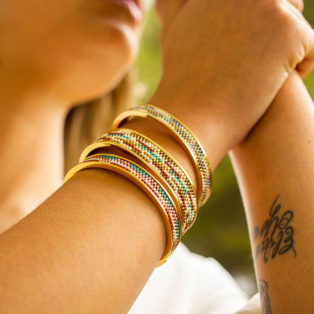 Totem Narrow Bangle: Acapulco