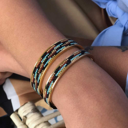 Totem Narrow Bangle: River