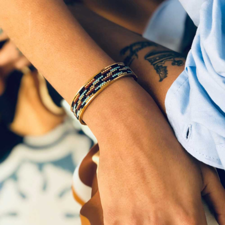 Totem Wide Bangle: River