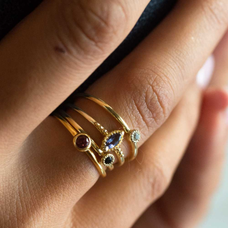 Marquis Gold Vermeil Stacking Ring