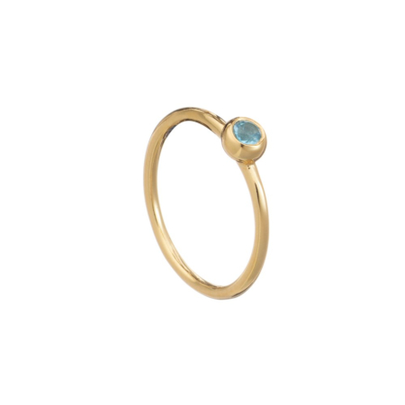 Lustrous Stone Stacking Ring