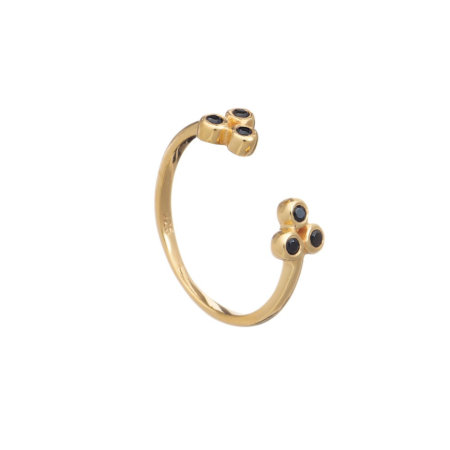 Ophelia Open Stacking Ring - Gold Vermeil