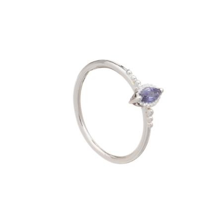 Marquis Silver Stacking Ring