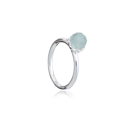 Apollo Sphere Stacking Ring - Sterling Silver