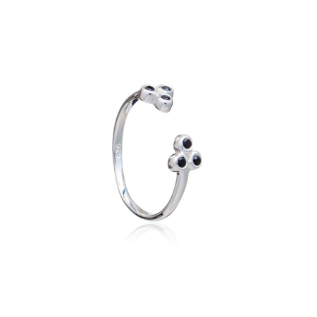 Ophelia Open Stacking Ring - Sterling Silver