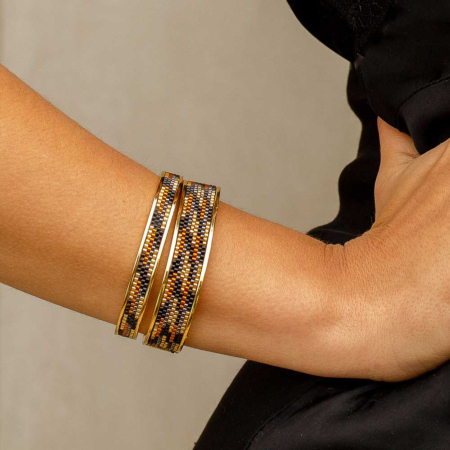 Totem Wide Bangle: Panther