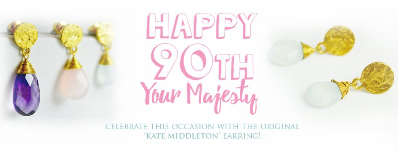 Celebrate the Queen's 90th Birthday with the original 'Kate Middleton' Earring!