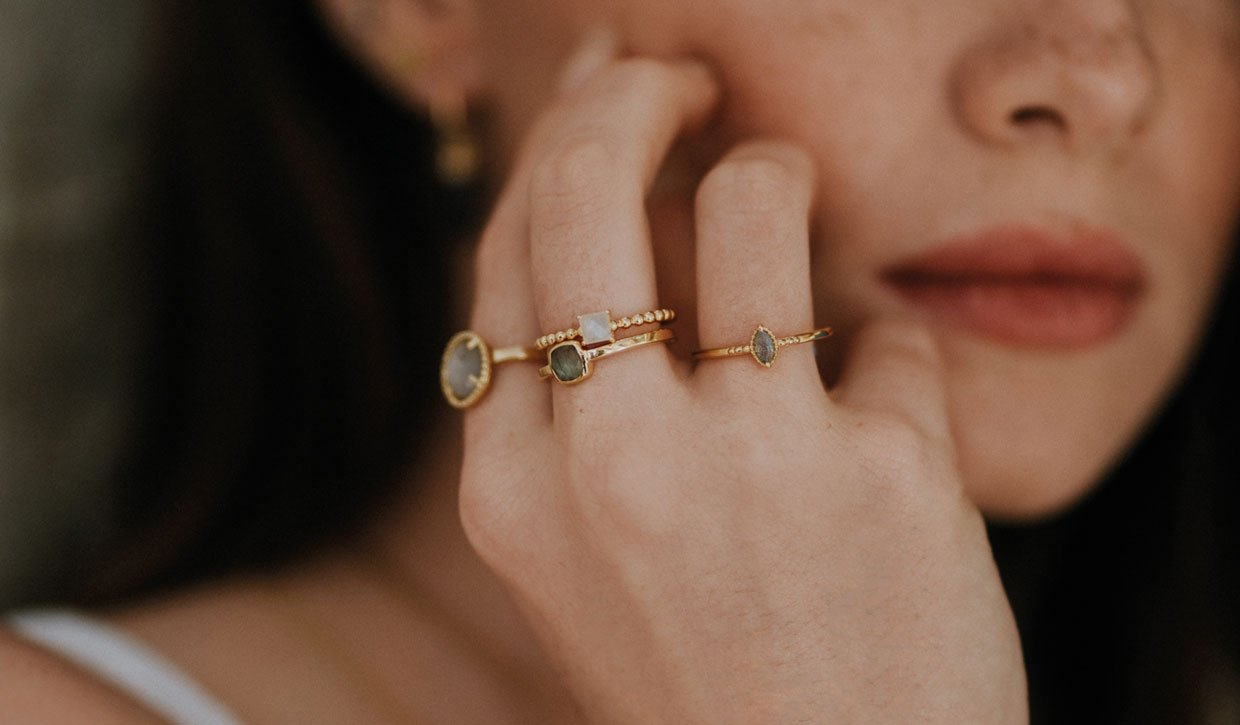 How to wear stacking rings.
