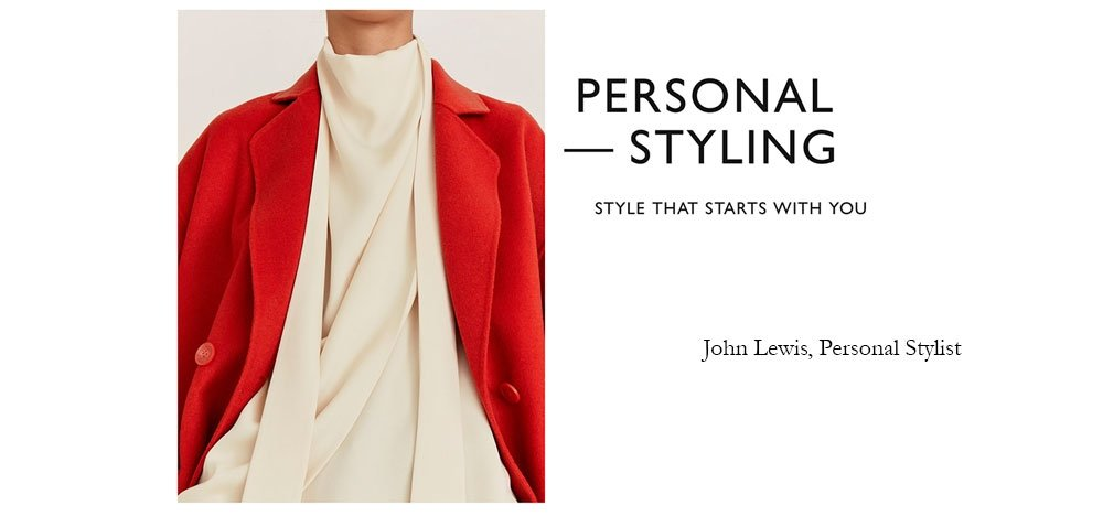 John Lewis Personal stylist offer