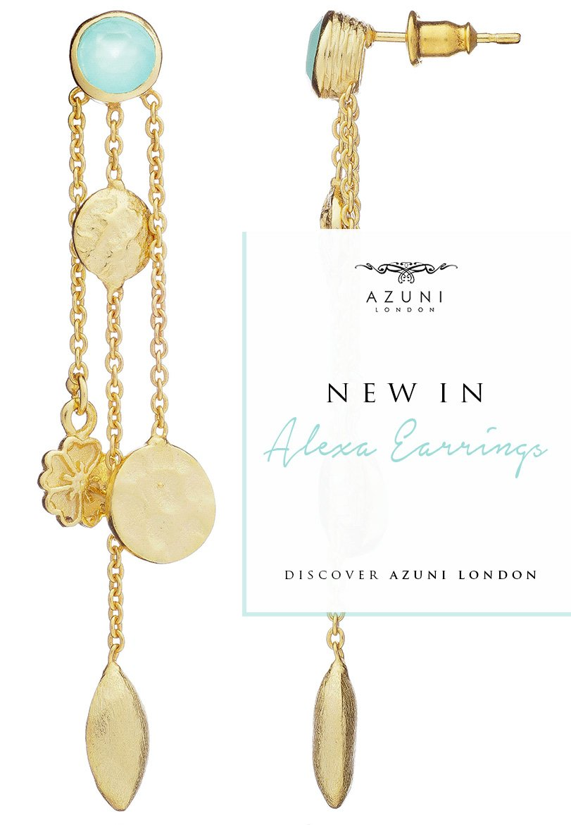 Alexa Gold Gemstone Earrings | Azuni London Jewelry