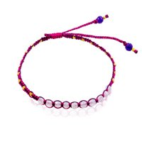 Pink friendship bracelet fashion