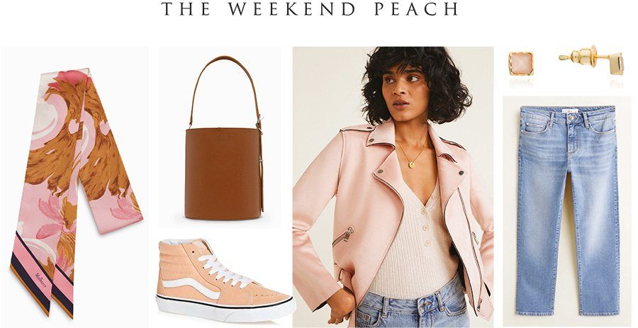 Weekend styling with peach moonstone